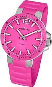 Jacques Lemans 1-1707I - Reloj analógico de cuarzo para mujer con correa de silicona, color rosa de Jacques Lemans