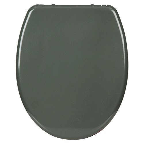 WOLTU WS2591 Premium WC-Sitz mit Absenkautomatik, Duroplast, Fast Fix, Softclose, Antibakteriell, Neu&Ovp, WS2591 Dunkelgrau