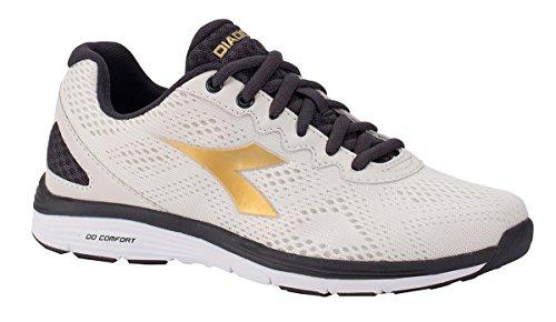 Diadora Schuh Running Sneaker Jogging Damen Swan 2White/Rich Gold Schuhe Herren, Bianco, 37 (Rich Schuhe Gold)