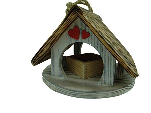 Villa à oiseaux pour jardin colorés fait avec du bois massif Douglas et pin PRODUIT FRANCAIS mangeoire à oiseaux lasuré 3-fois avec lasure acrylique Nous sommes membre de la chambre dartisanat français Maison à oiseaux incolore tout est vissé 98