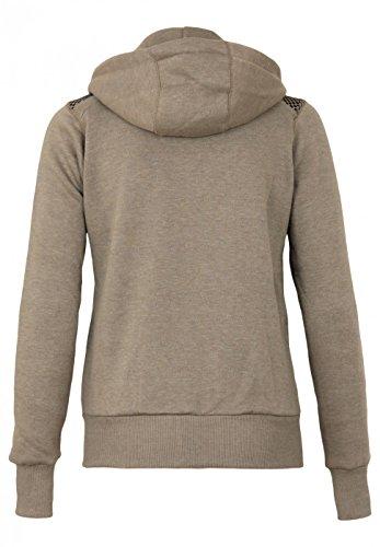 Geographical Norway Sweatshirt coat Fitness Lady Grigio topo