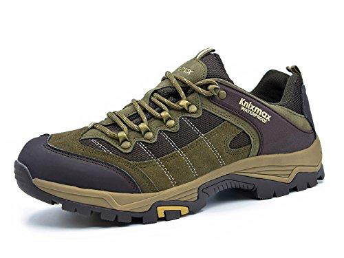 Wildleder-plattform-boot (Knixmax Damen Wanderschuhe Hiking Schuhe Outdoor Anti-Rutsch-Sohle Wasserdicht Trekking-Wanderhalbschuhe, Braun, 41 EU (8 UK))