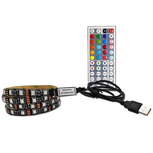 Preisvergleich Produktbild Gosear 2M Multi Color LED Strip USB RGB TV Hintergrundbeleuchtung Zurück Licht mit Remote Controller für TV Desktop Überwacht