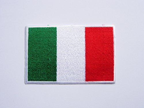 Patches–Italy Flag–Flagge Italien–Flag Patches–Countries–Vest–Iron Man Patch–Wandleuchte Embroidery Wappen bestickt kostüm cadeau- Give ()