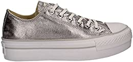 sneakers converse donna argento