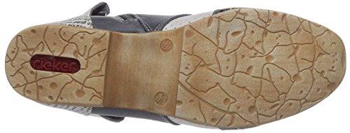 Rieker 97017/14, Boots femme Bleu (Bleu Combiné)