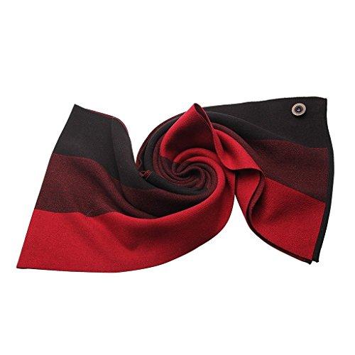 Warmpalm Echarpes, Echarpes pour Hommes ( couleur : Noir ) Rouge
