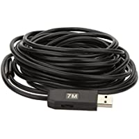 KKmoon 2MP 9mm USB Endoscopio Periscopio Impermeabile Fotocamera d 'Ispezione con 6LEDs Cavo da 7M