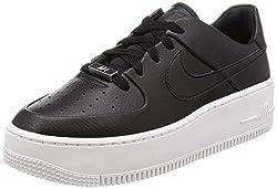 Nike Damen Air Force 1 Sage Low AR5339-002 Fitnessschuhe, Schwarz (Black/Black/White 002), 39 EU