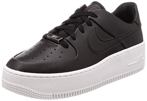 official photos 67ebf 16a69 Nike W Af1 Sage Low Scarpe da Fitness Donna, Nero Black White 002,