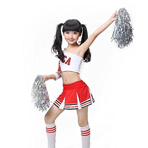 , Rot-weißes Cheerleader Outfit, Kleid, Uniform, Team, 150 cm ()