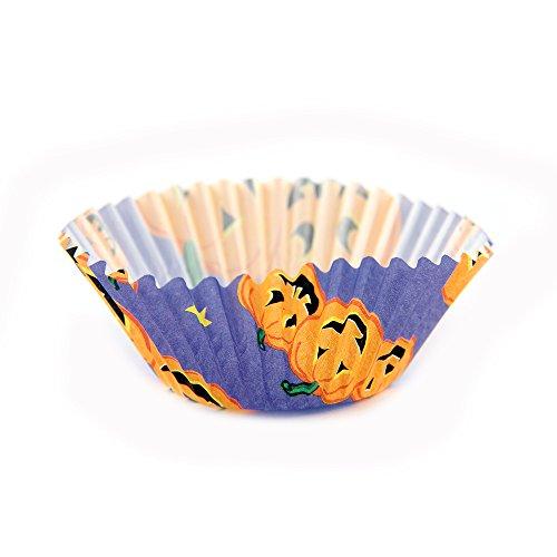 Papier Cupcake Müllbeutel, Papier, Halloween Pumpkin, Mini: 1-1/4 ()