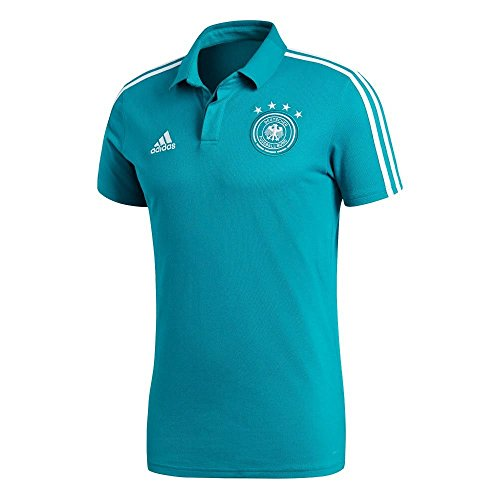 adidas Herren DFB Cotton Polo Poloshirt, EQT Green s16/White, L