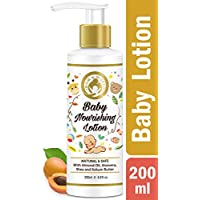 Mom & World Baby Nourishing Lotion - With Almond Oil, Aloevera, Shea & Kokum Butter - 200ml
