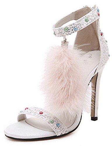 WSS 2016 Chaussures Femme-Soirée & Evénement-Noir / Bordeaux-Talon Aiguille-Talons / A Plateau / Bout Ouvert-Sandales-Laine synthétique black-us8 / eu39 / uk6 / cn39