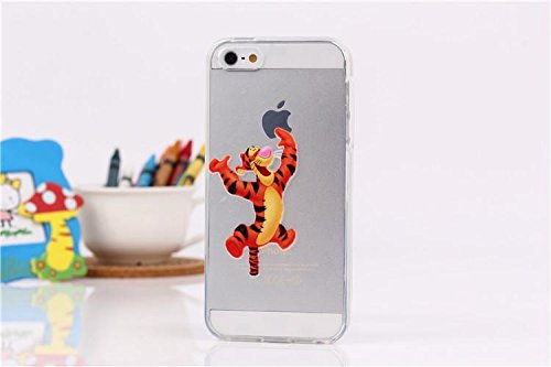 NEW DISNEY CARTOONS TRANSPARENT CLEAR TPU SOFT CASE FOR APPLE IPHONE 7 PLUS BUNNY 1 TIGGER