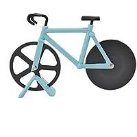 Cortador de pizza Ahomi, en forma de bicicleta, hoja de acero inoxidable, antiadherente