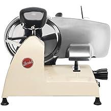 BERKEL-Cortadora de fiambre eléctrica profesional de mesa con afilador incorporado-RED LINE 220 color CREMA