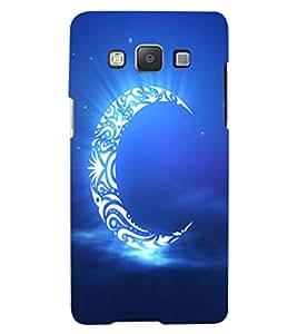 ColourCraft Creative Moon Design Back Case Cover for SAMSUNG GALAXY A8