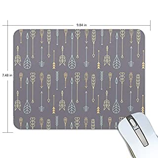 Sketchy Arrows Pattern Print Non-Slip Rubber Mousepad Gaming Mouse Pad Fast and Accurate Control for Gaming and Office