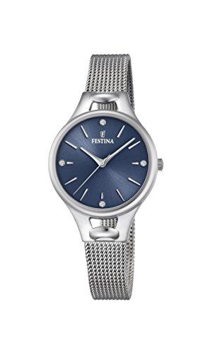 Festina Unisex Digital Quartz Connected Wrist Watch with Stainless Steel Strap F16950/C