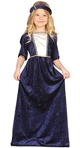 Mädchen-lila Lang Renaissance Mittelalterliche Maid Juliet Kostüm Kleid Outfit 3-9 jahre - Lila, 5-6 (Kostümen Kinder Renaissance Mittelalterlichen Für)