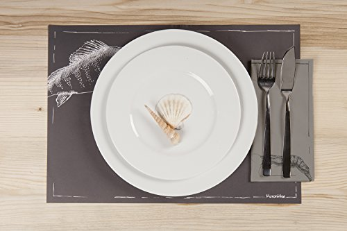 Tavolinas Papier Servietten I Scampi I Mediterran I Stillvolle Tischdeco I 20 Stück