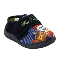 Boys PAW Patrol PUP Characters Navy Touch Fasten Slip ON Slippers UK Size 5-10