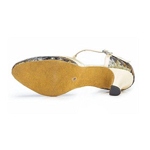 Meijili - Scarpe con plateau donna Oro