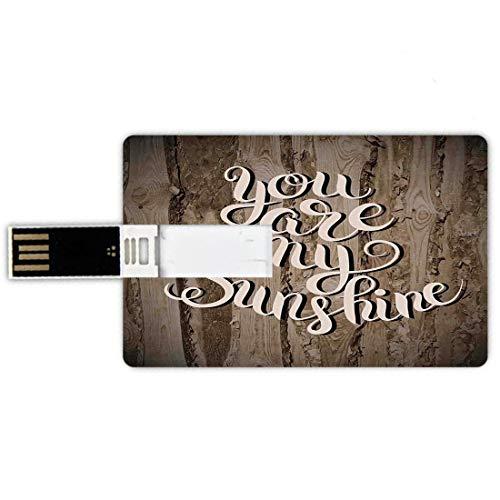 32GB Forma tarjeta crédito unidades flash USB Decoración