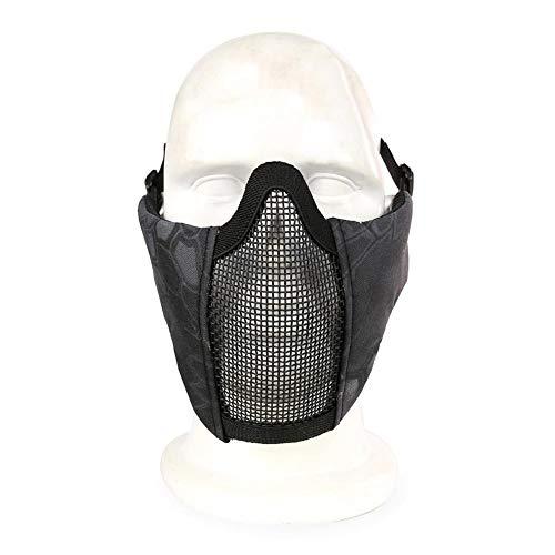 Ljourney Airsoft Maske - Netzgewebe Schutzmaske Nylon Halbmaske, Stahldraht Maske, Reiten Atmungsaktive Taktische Maske Im Freien, für Softair Paintball CS