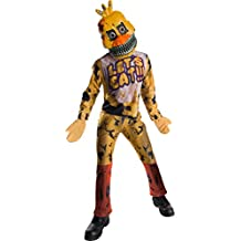 Five Nights At Freddys Nightmare Chica Costume Child Large