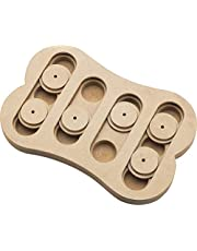 Callas RioAndMe Pet Interactive Seek-A-Treat Shuffle Bone Toy Puzzle That Will Improve Your Dog's IQ, Specially Designed for Training Treats (Brown, CA4096)