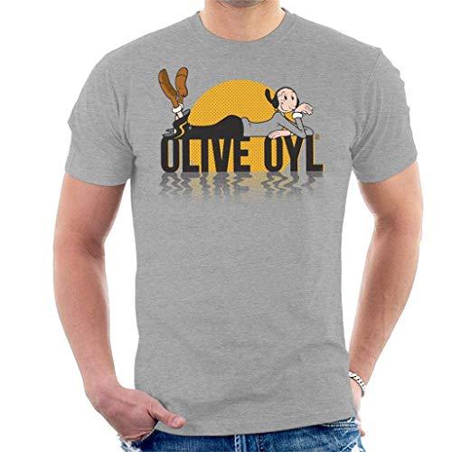 Popeye Olive OYL Dark Text Men's T-Shirt M -