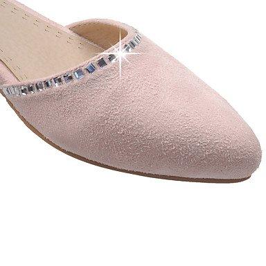 LvYuan Bureau & Travail Habillé Décontracté-Rose Gris Beige-Gros Talon-Bride de Cheville Flower Girl Chaussures Semelles Légères-Sandales-Laine beige