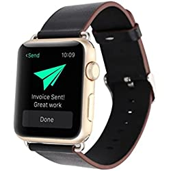 For Apple Watch Band Strap, Fulltime(TM) Leather Buckle Wrist Watch Band Strap Horses Belt for Watch Apple Watch 42mm