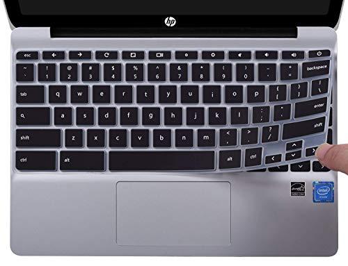 CaseBuy Ultradünne Tastatur-Abdeckung für HP Chromebook 11 x360 29,5 cm (11,6 Zoll) und HP Chromebook 11 G2 / G3 / G4 / G5 / G6 EE 29,5 cm (11,6 Zoll) Chromebook Nicht für HP Chromebook G5 EE schwarz (Skin Für Hp Touchscreen Laptop)