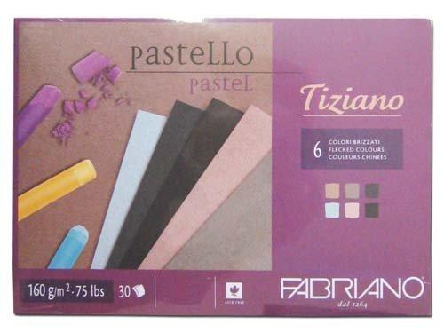 Fabriano 46221297 Pastellpapier Blöcke, Baumwolle, mehrfarbig, 21 x 29,7 x 0,5 cm