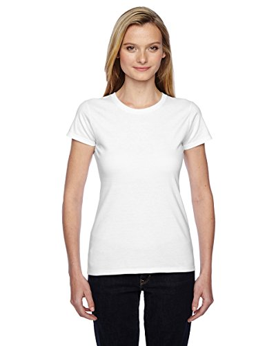 Ladies' 4.7 oz. Sofspun� Jersey Junior Crew T-Shirt WHITE S