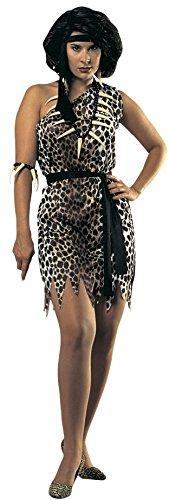 Damen Cavewoman, Erwachsenen-Kostüm–Gr. M/Standard (Cavewoman Zubehör)