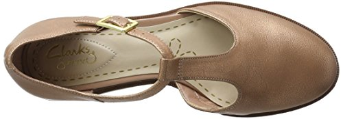 Clarks Taylor Palm Damen T-Spangen Sandalen Pink (Dusty Pink)