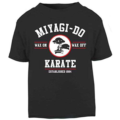 Kinder Kostüm Cobra Kai - Miyagi Do Karate Kid Wax On Wax Off Baby and Toddler Short Sleeve T-Shirt