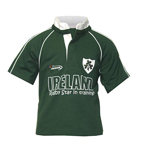 Rugby Star Baby Rugby Shirt, Grün, 6-12 Monate