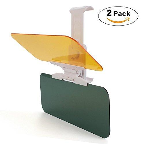 Preisvergleich Produktbild 2 x Verlängerung für Auto-Sonnenblende, Auto-Blendschutz, HD-Visier, Monojoy Tag- und Nachtsichtschutz, Blendschutz, Anti-UV-Blendschutz, Verlängerung für Windschutzscheibe