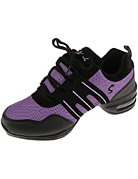 Zapatos De Danza Deportivos Modernos Zapatos De Baile Jazz Elegante Para Mujeres Señoras - Negro y púrpura, 40