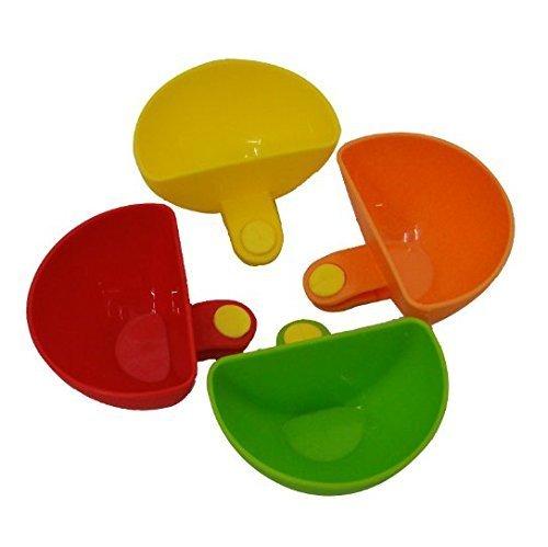 UChic 4Pcs Dip Clip Bowl Halter Kunststoff kann eine Schale Tray Salz Platte Cup Küche & Restaurant servieren Dish Sauce Dipping Bunte Tabelle Schalen für Gewürze Pistazien Zucker Würze Farbe Random