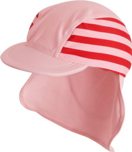 Playshoes Unisex - Baby Babybekleidung/ Badebekleidung UV-Schutz nach Standard 801 und Oeko-Tex Standard 100 Bademäftze mit Streifen 460049, Gr. one size(53 cm), Rosa (788 rot/rosa)