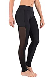 Deeptwist Womens Mesh Sport Leggings Plus Size Gym Fitness Workout Running Tights Yoga Pants Black, Uk-dt4009-black-6