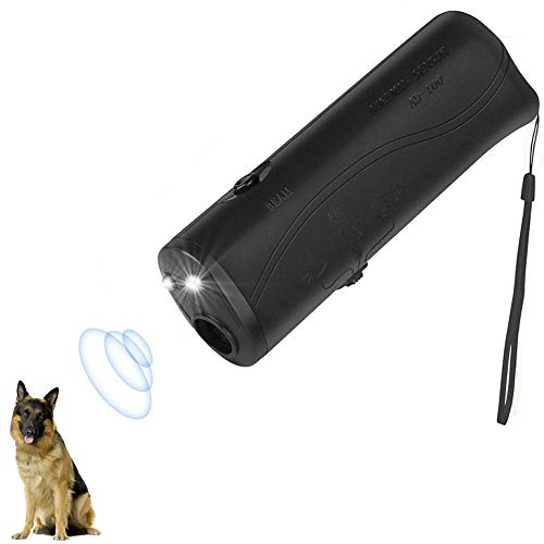 Rhww 3 En 1 Mano Repelente para Perros Y Entrenador, Led Detener Ladrido Ladrar Controlador, Negro