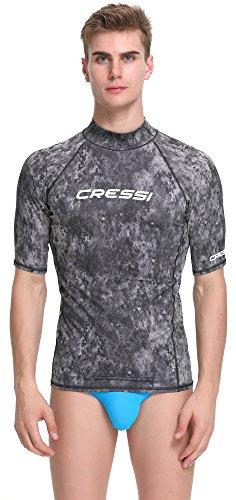 Cressi Herren T-shirt Rash Guard UV Sun Protection (UPF), Blaue Tarnung, Gr. 46 (Herstellergröße:XS/1) -